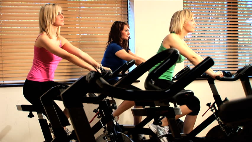 Beautiful Girl Exercises At The Gym Stock Footage Video 242914 ...