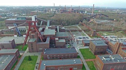 The Zollverein Coal Mine Industrial Complex in Essen, Germany