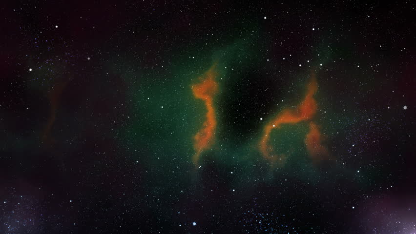 Space journey among nebulae | Shutterstock HD Video #2442518