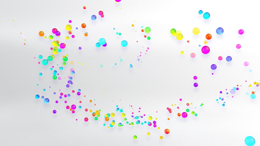 Stock Video Of Colorful Dot Space.
