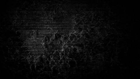 a computer generated abstract black and white  background with fast moving stylized tv noise dots and scanlines, a dark and sinister ambiance