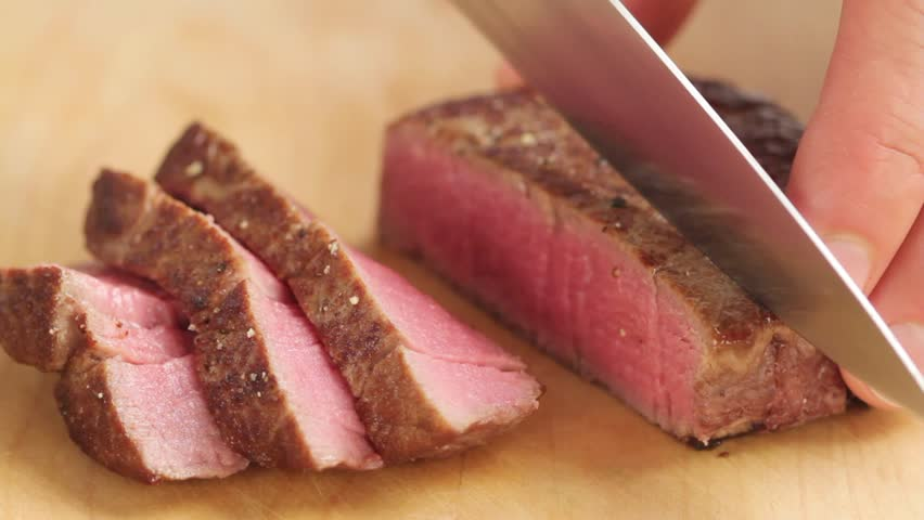 how to cut meat against the grain video