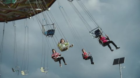 view of flying chairs at st. kilda  luna park  in Melbourne