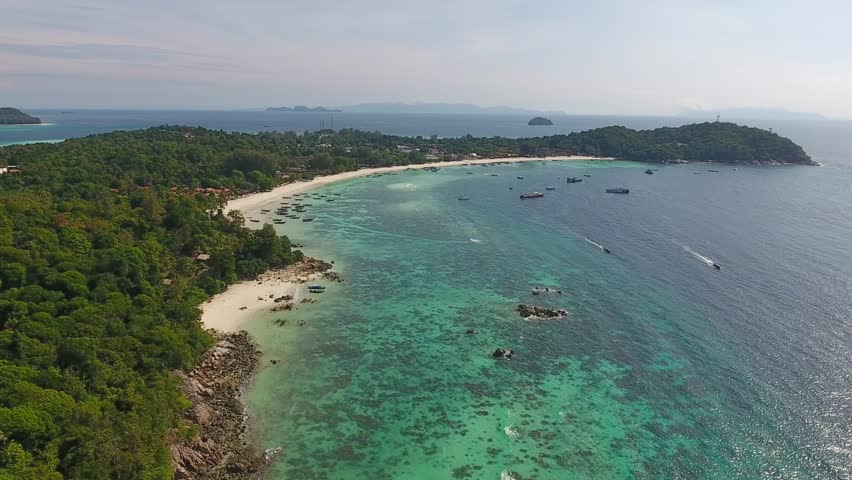 Aerial view on tropical Ko Lipe island in the Andaman Sea, Thailand, 4k   Shutterstock HD Video #24625214