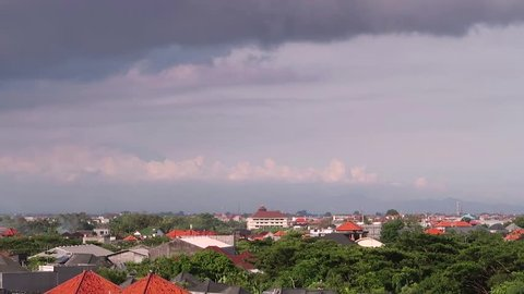 Timelapse of clouds of Seminyak, Bali, Indonesia.