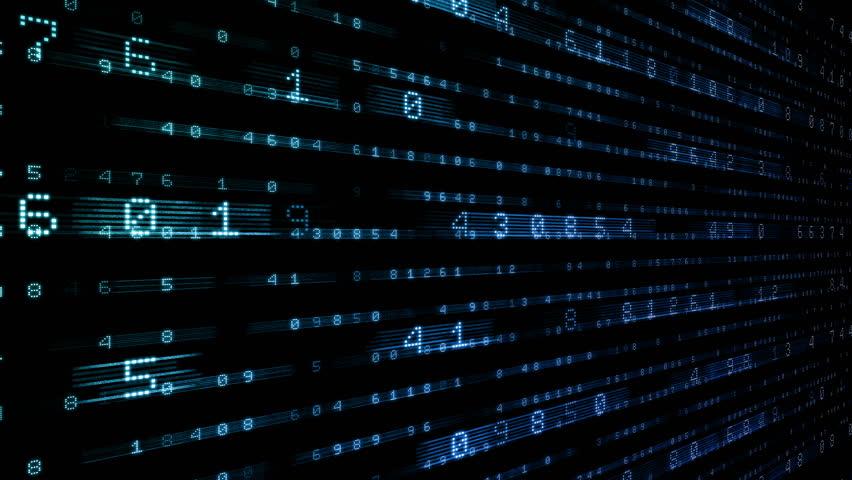 Digital world data space number text. | Shutterstock HD Video #24653618