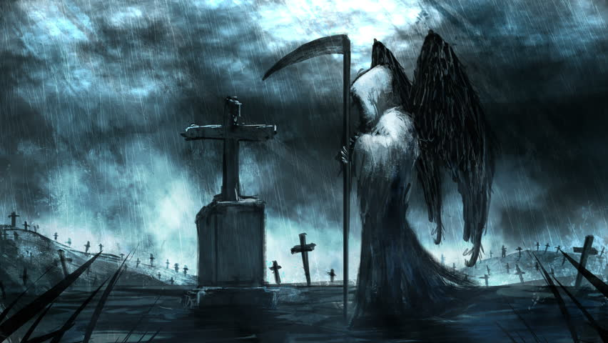 Animated Reaper and Graveyard Digital Stock Footage Video (100%  Royalty-free) 24692798   Shutterstock
