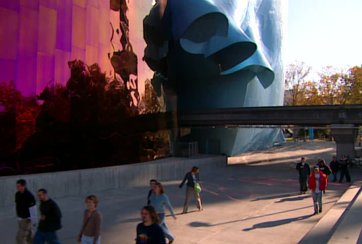 SEATTLE   Circa 2002: Facade Of The EMP Museum In Seattle In 2002.  Previously