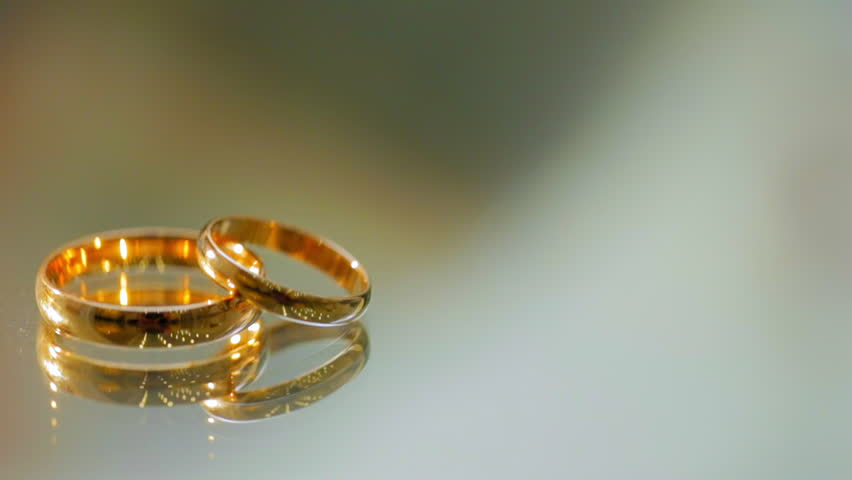 Wedding Rings Lie On The Stock Footage Video 100 Royalty Free
