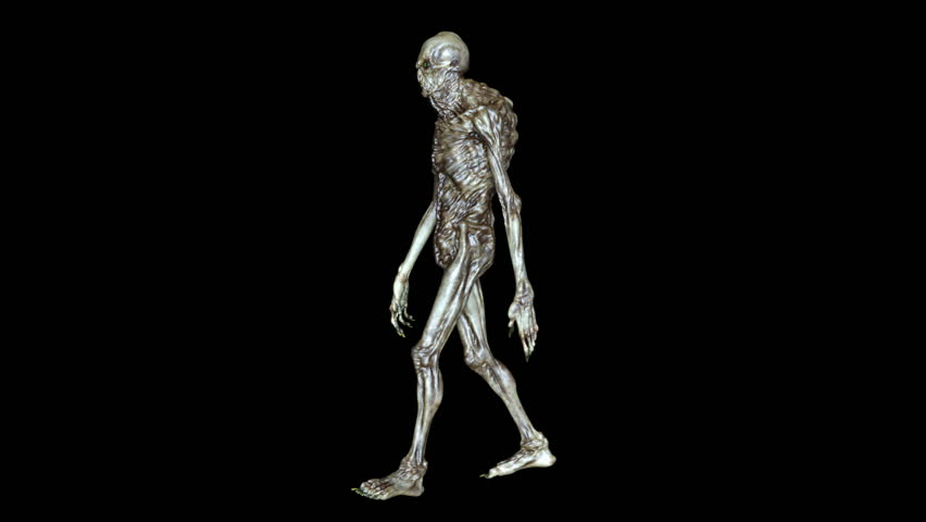3D CG rendering of a walking monster | Shutterstock HD Video #24784241