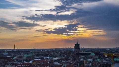 Sunset above Copenhagen