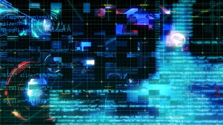 Technology Interface Computer Data Digital Screen   Shutterstock HD Video #24941378