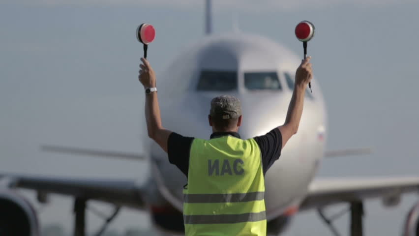 Aircraft traffic controller at the airport #2496458