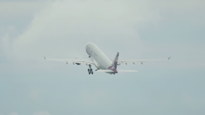 PHUKET, THAILAND - DECEMBER 5, 2016: Qatar Airbus 330 A7-ACI take off from Phuket airport.