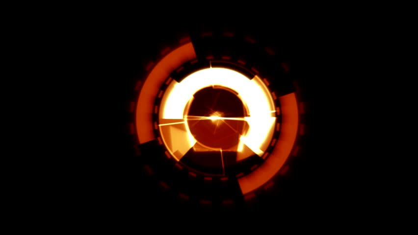Arrow Interface Data Loader Orange Glow Circular Round with Light Rays. Alpha Channel.