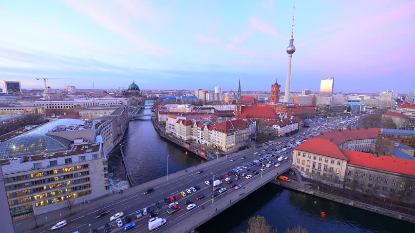 Time lapse of Television Tower in Berlin, Germany  | Shutterstock HD Video #25055828