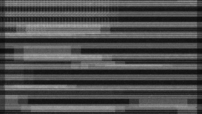 Glitch noise static television VFX. Visual video...