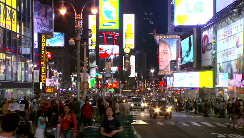 New York, NY - CIRCA 2006: An iconic view of the every popular tourist attraction that is the gentrified Times Square