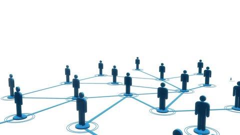 Network growing loop 3d animation