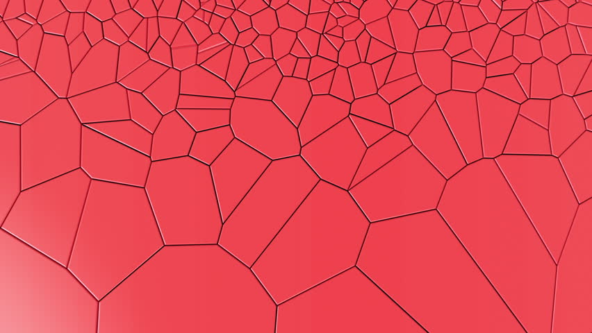 Loopable 3D animation of red pieces of surface moving and creating fracture | Shutterstock HD Video #25078238