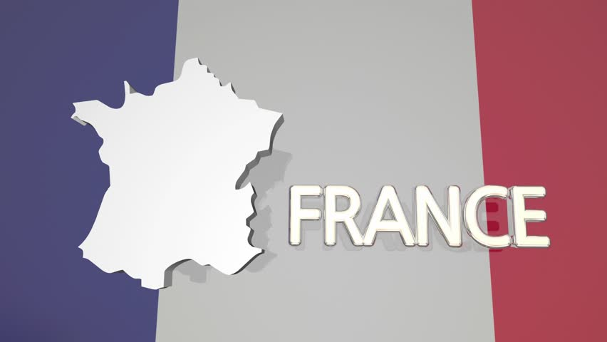 France Country Nation Map Europe Flag 3d Animation