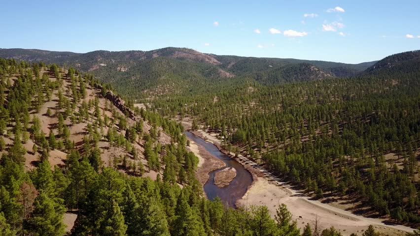 Aerial View of South Platte River in Colorado