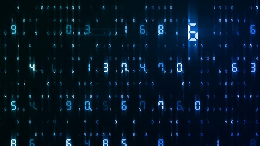 Digital world data space number text. | Shutterstock HD Video #25142858