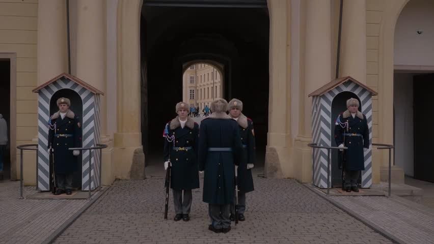 change of guards at prague castle prague czech republic march 20 2017 - Traditional Castle 2016