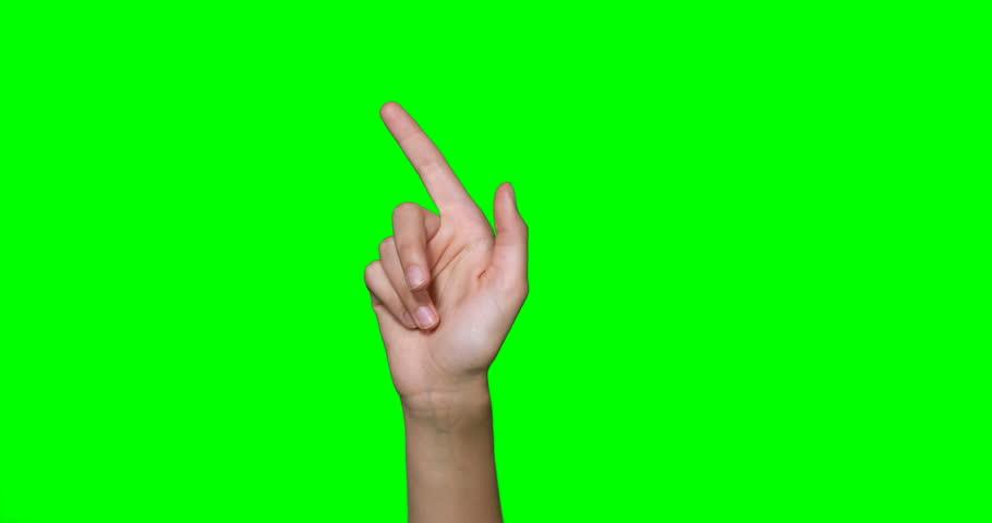 Hands making symbol against green screen   Shutterstock HD Video #25233158