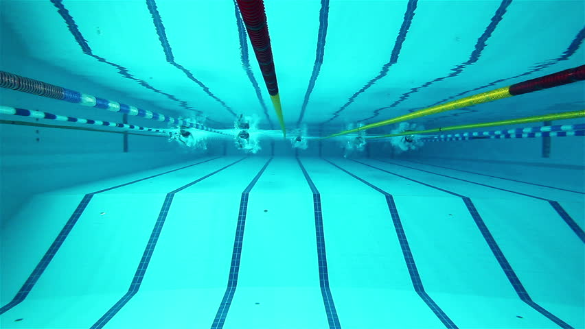 Swimming Pool Lane Lines Background underwater picture of the lanes of a swimming pool; sport concept