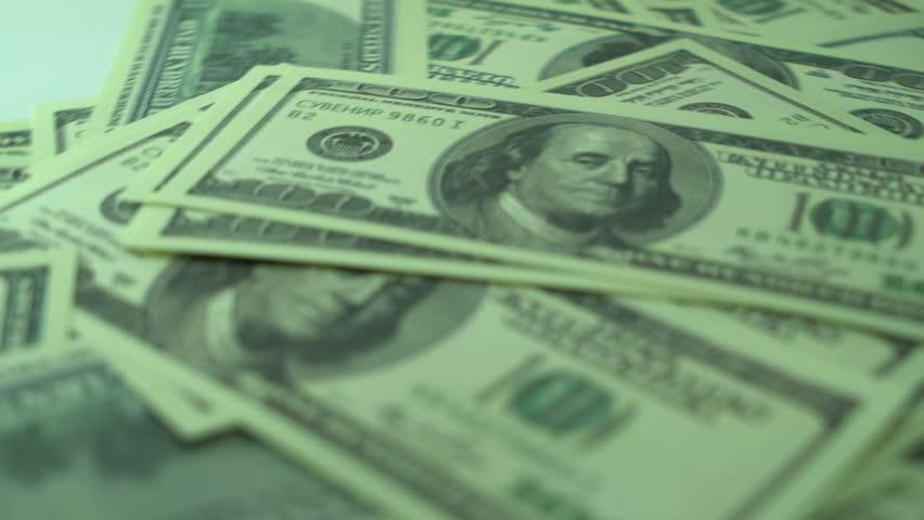 100$ Cash Money US Dollar Bills Background