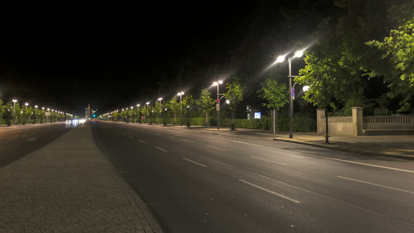 Traffic at night with carlights passing by in Berlin | Shutterstock HD Video #2538728