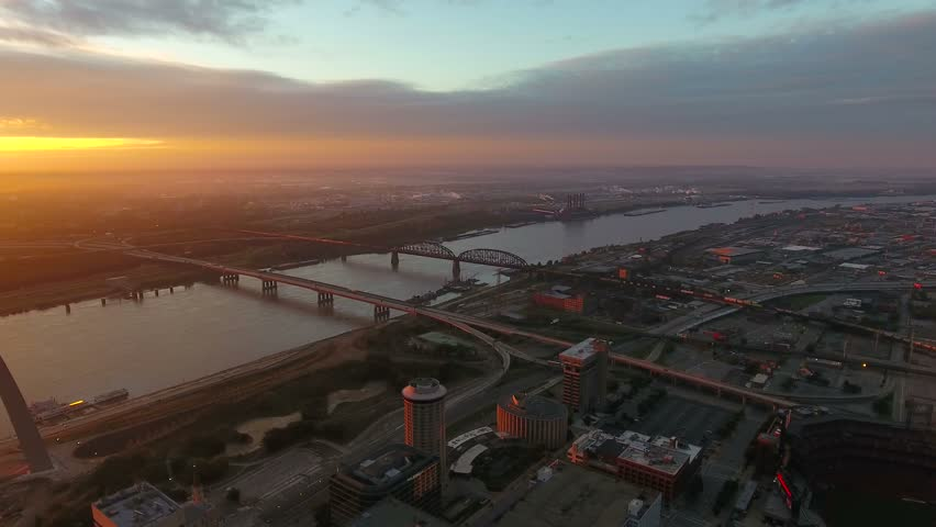 Aerial Missouri St Louis September 2016 4K