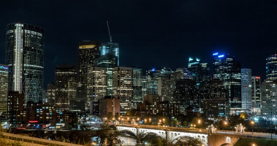 Hyper Lapse of Downtown Calgary Stock Footage Video (100% Royalty-free)  25446668 | Shutterstock