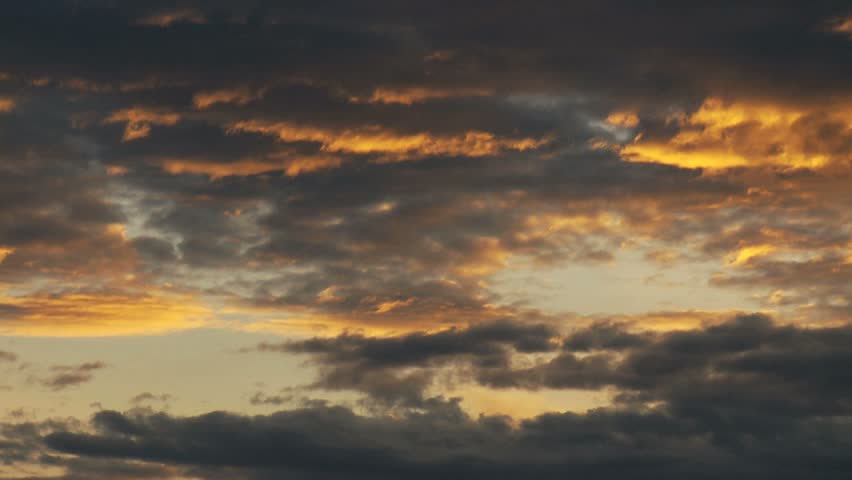 Dramatic time-lapse of sunset clouds