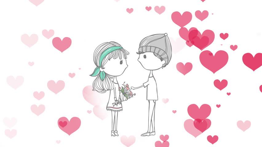 girl and boy dating cartoon