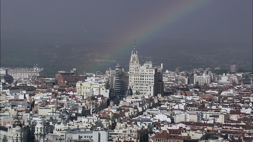 Rainbow Over Madrid Spain, Madrid-2007
