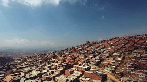 Aerial Bogota Slum Poverty Colombia