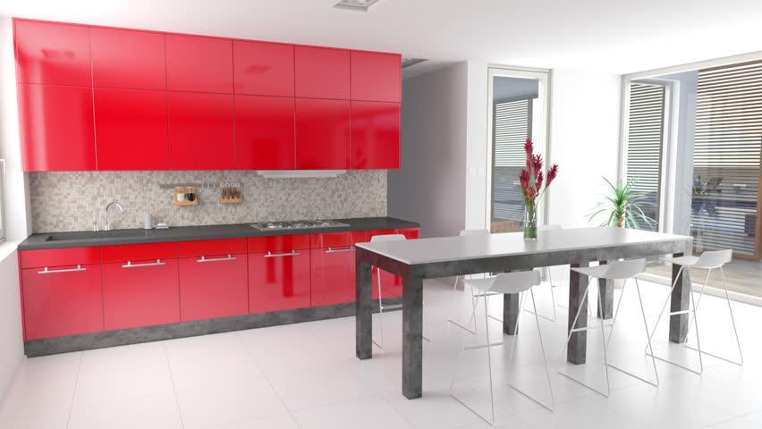 Furniture Design Videos modern kitchen interior design with furniture. 2d animation of