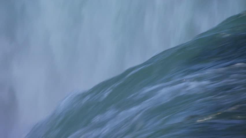 Washing rushing over Niagara Falls edge