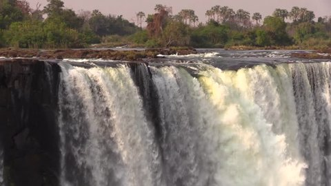 Amazing view of the Main Fall and the Devil's Pool from the opposite side - Victoria Falls HD1080