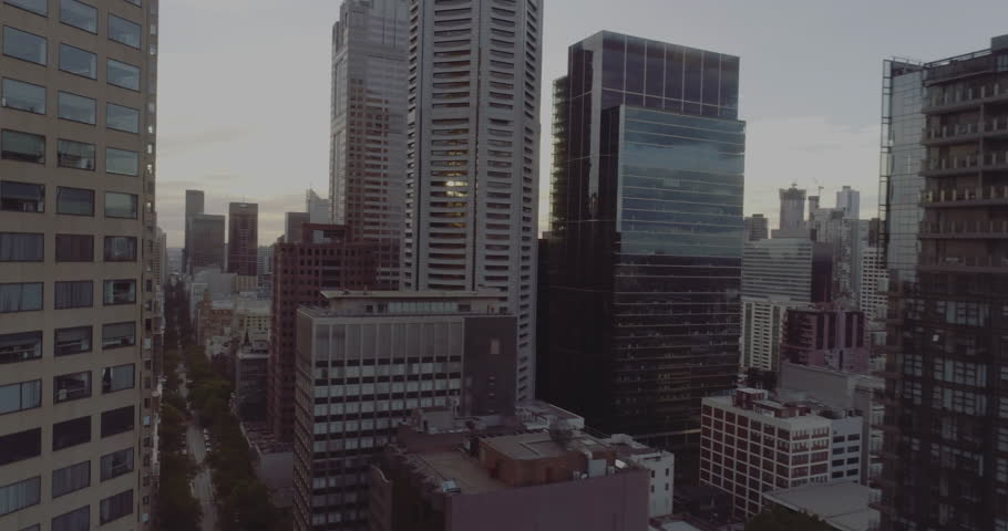 Aerial view of the Melbourne skyline. Melbourne Victoria Australia | Shutterstock HD Video #25656938