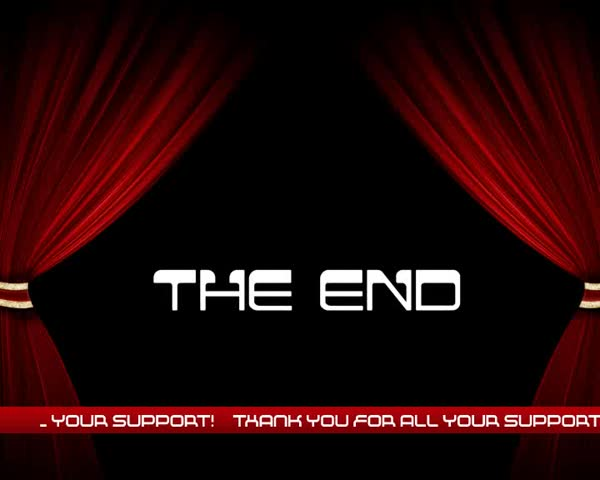 The End - Thank you for your support