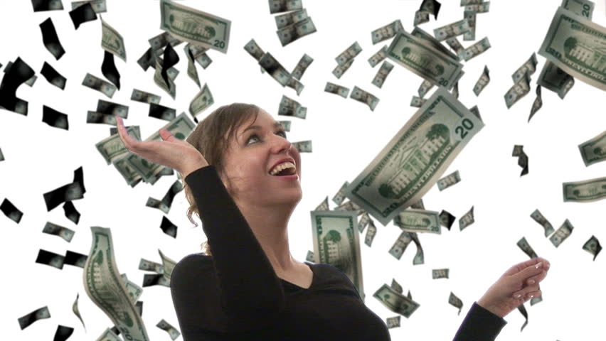 Businesswoman catching Dollars - Composite Image | Shutterstock HD Video #257497