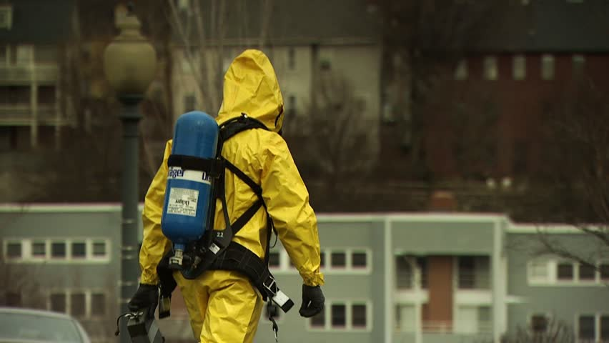 PROVIDENCE, RHODE ISLAND - SEPTEMBER 16, 2010: Hazmat emergency response drill