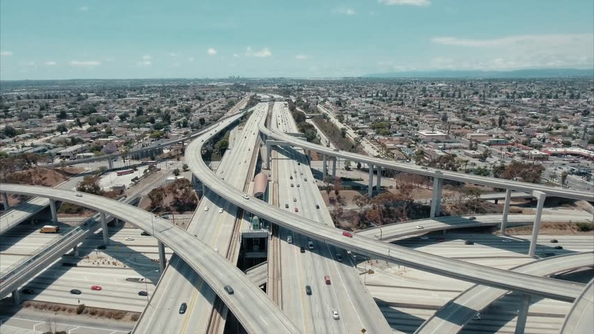 Above the highway in Los Angeles | Shutterstock HD Video #25758788