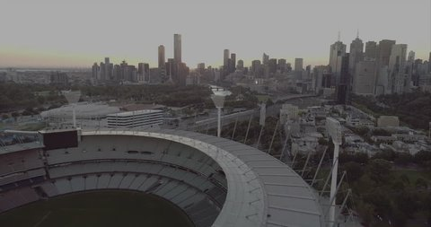 "Melbourne Australia. March 23rd 2017: Aerial view over the Melbourne Cricket Ground.The Melbourne Cricket Ground, also known as ""The G"", is Australian's biggest sports stadium."