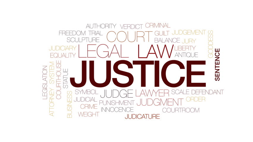 Justice animated word cloud, text design animation. Kinetic typography. | Shutterstock HD Video #25811408