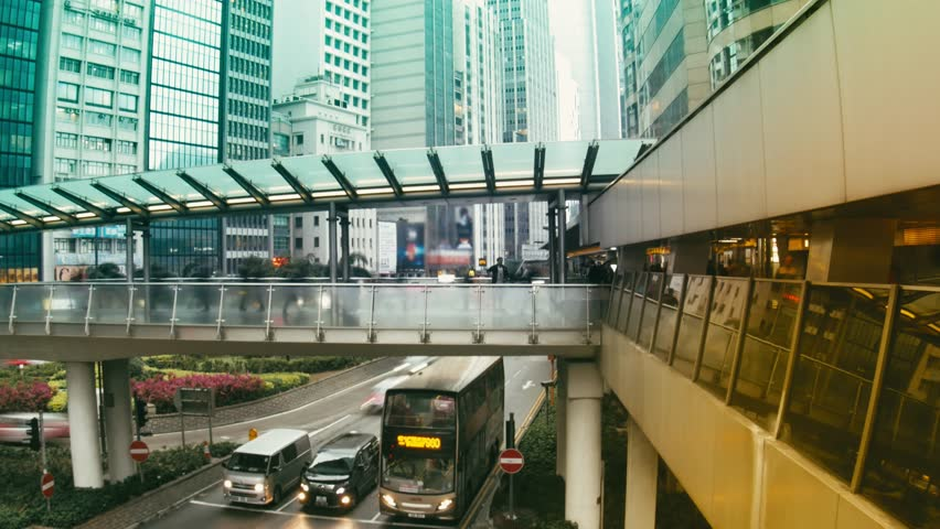 Time Lapse.The Streets of Hong Kong.  | Shutterstock HD Video #25828148