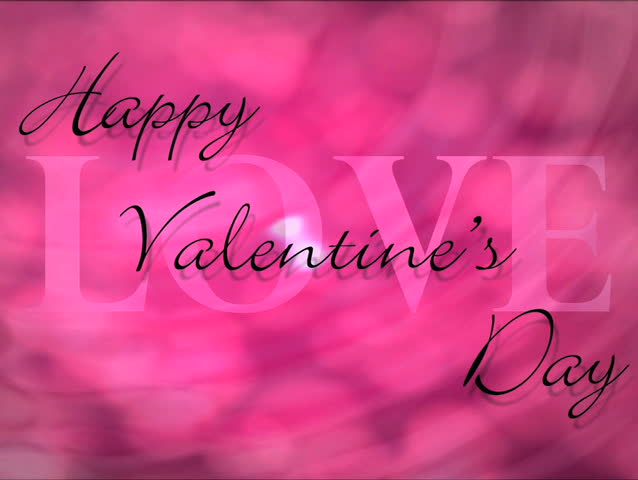 Love Shape Hand On Heart Bokeh Background With Text Happy ...
